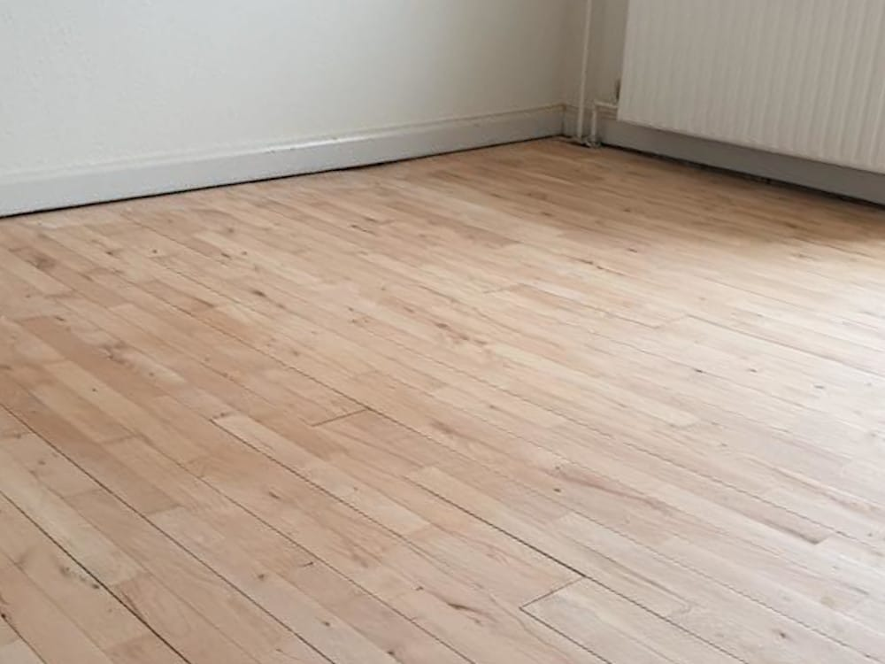 Gulv efter gulvafslibning